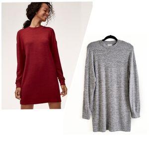 Aritzia Wilfred Free Verna dress grey small